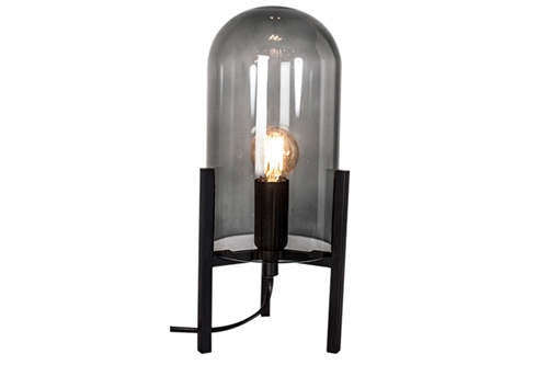 By Rydéns Smokey Bordlampe H30cm Mat Sort/Røggrå