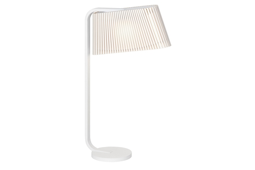 Secto Design Owalo 7020 Bordlampe Hvid Ø30 H50