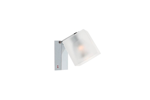 Fabbian Ice Cube Classic Væg/Loftlampe H10,7cm Frostet/Krom