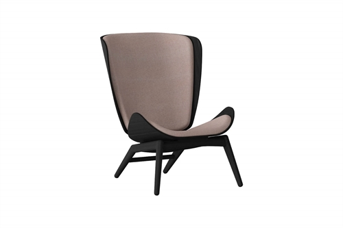 Umage The Reader Wing Chair Stol Sort Egetræ Dusty Rose