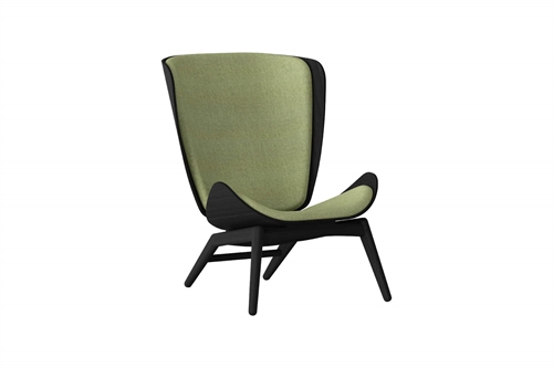 Umage The Reader Wing Chair Stol Sort Egetræ Spring Green