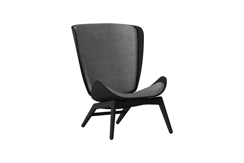 Umage The Reader Wing Chair Stol Sort Egetræ Slate Grey