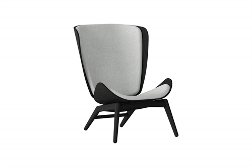 Umage The Reader Wing Chair Stol Sort Egetræ Silver Grey