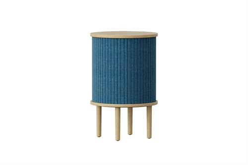 Umage Audacious Side Table Bord Egetræ/Petrol Blue Ø38cm H59,3cm