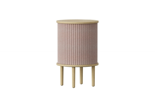 Umage Audacious Side Table Bord Egetræ/Dusty Rose Ø38cm H59,3cm