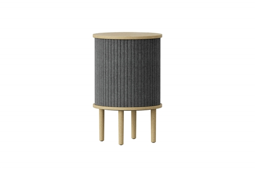 Umage Audacious Side Table Bord Egetræ/Slate Grey Ø38cm H59,3cm