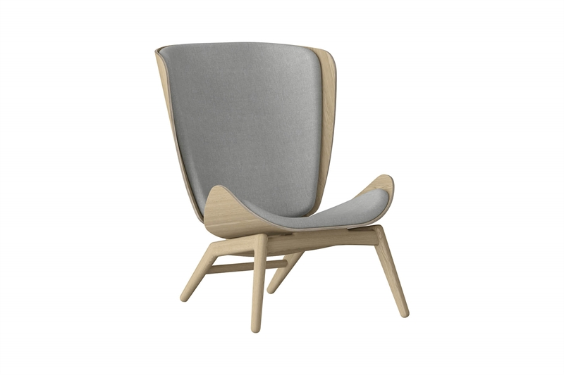 Umage The Reader Wing Chair Stol Egetræ Silver Grey