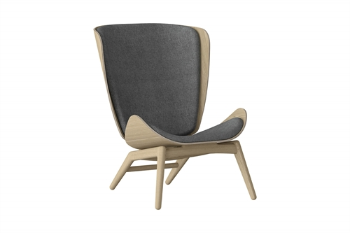 Umage The Reader Wing Chair Stol Egetræ Slate Grey