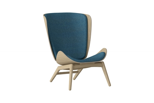 Umage The Reader Wing Chair Stol Egetræ Petrol Blue
