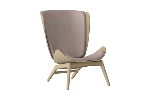 Umage The Reader Wing Chair Stol Egetræ Dusty Rose