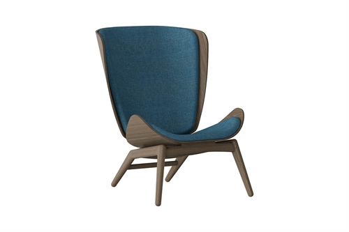 Umage The Reader Wing Chair Stol Mørk Egetræ Petrol Blue