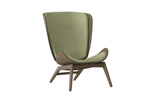 Umage The Reader Wing Chair Stol Mørk Egetræ Spring Green