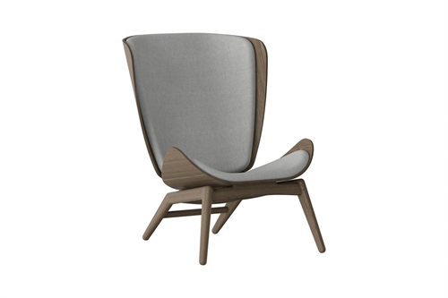 Umage The Reader Wing Chair Stol Mørk Egetræ Silver Grey