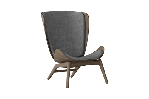 Umage The Reader Wing Chair Stol Mørk Egetræ Slate Grey